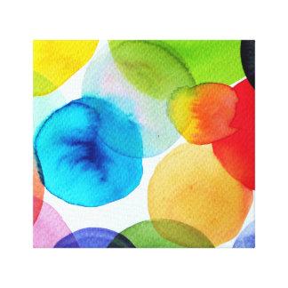Brightness dots print on canvas