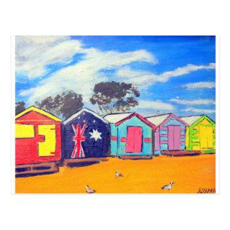 Brighton Bathing Boxes Postcard
