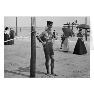 Brighton Beach Lifeguard, early 1900s Card