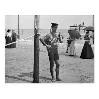 Brighton Beach Lifeguard, early 1900s Postcard
