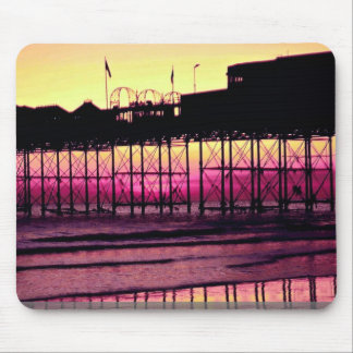 Brighton Pier at sunset, Sussex, England Mousepad