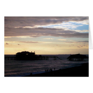 Brighton West Pier Card