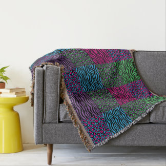 Brights Animal Print Throw