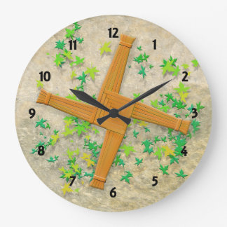 Brigid Cross Large Clock