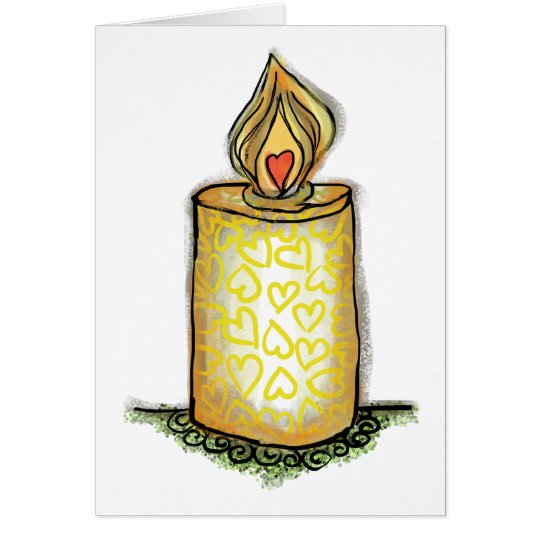 Brigid's Candle Card