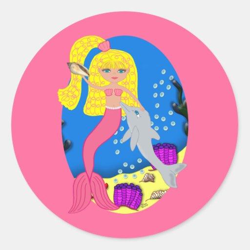 Brigit the Mermaid Envelope Seal Sticker