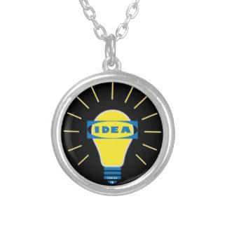Brigth Idea Parody logo Personalized Necklace