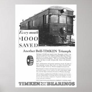 Brill Company 1926 M-1 Gas Electric Car Poster