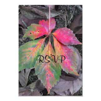 "Brilliance Among the Grey - Autumn Leaf 3.5"" X 5"" Invitation Card"