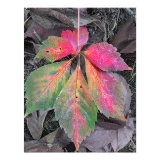 Brilliance Among the Grey - Autumn Leaf Custom Invitations