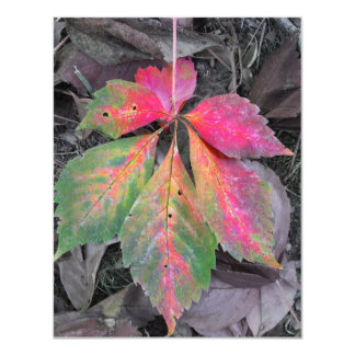 "Brilliance Among the Grey - Autumn Leaf 4.25"" X 5.5"" Invitation Card"