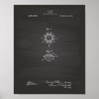 Brilliant 1919 Patent Art Chalkboard Poster
