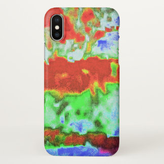 Brilliant abstract wave art design. iPhone x case