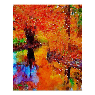 Brilliant Autumn Poster