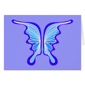 Brilliant Blue Butterfly Party Invitation