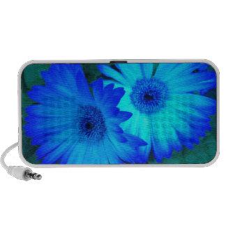 Brilliant Blue Daisies Doodle Speaker