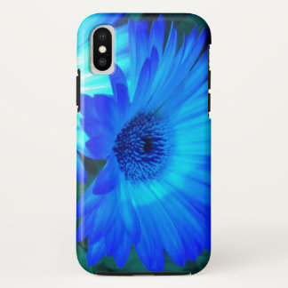 Brilliant Blue Daisy iPhone X Case