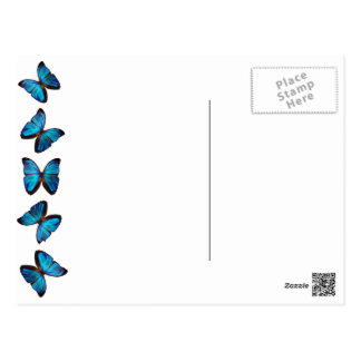 Brilliant Blue Monarch Butterfly post card