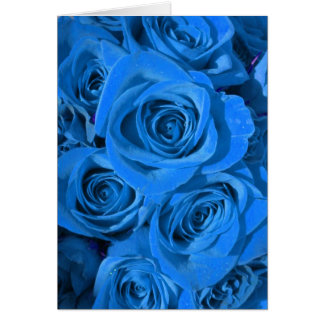 Brilliant Blue Rose Card