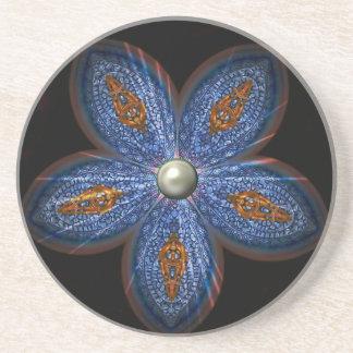 Brilliant Blues Batik Coaster