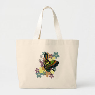 Brilliant Butterfly Large Tote Bag