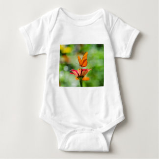 Brilliant Butterfly on Bright Orange Gerber Daisy Baby Bodysuit