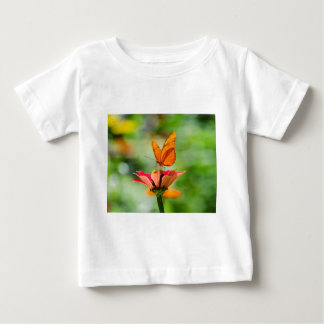 Brilliant Butterfly on Bright Orange Gerber Daisy Baby T-Shirt