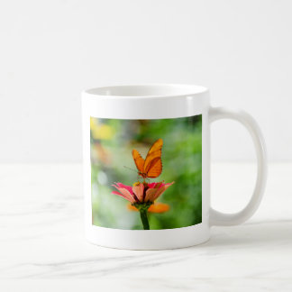 Brilliant Butterfly on Bright Orange Gerber Daisy Coffee Mug