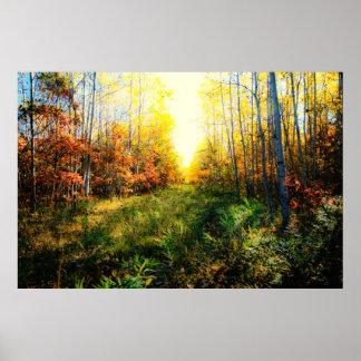 Brilliant colored landscape print
