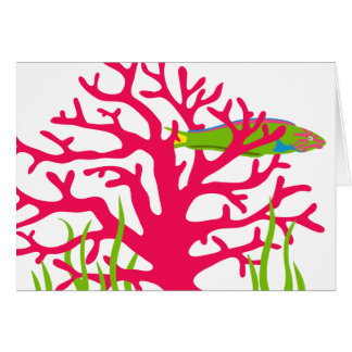 Brilliant Coral Card