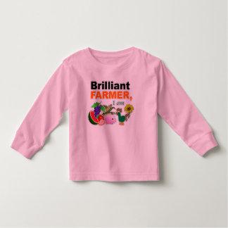 """Brilliant Farmer, I Am"" Toddler Long Sleeve Toddler T-Shirt"