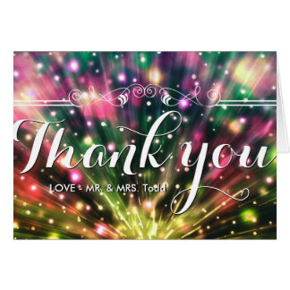 Brilliant Fireworks |WEDDING THANK YOU CARD