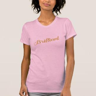 Brilliant Gold Faux Glitter Metallic Sequins Quote T-Shirt