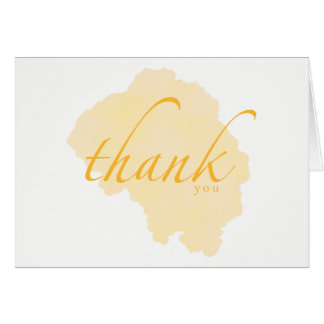 Brilliant Gold Watercolor Thank You Cards