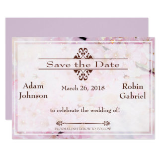 Brilliant Lavender Save The Date Invite