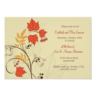 Brilliant Leaves Invitation
