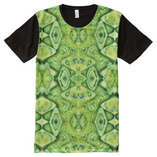 Brilliant Lime Green abstract pattern All-Over Print T-Shirt