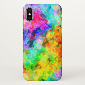 Brilliant Painted Colors iPhone X Case