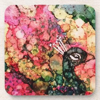 Brilliant Peacock Coaster