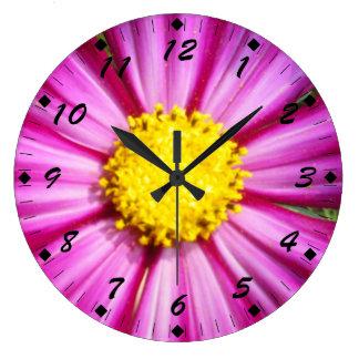 Brilliant Pink Cosmo Wall Clock