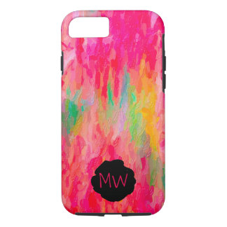 Brilliant Pink, Green, Yellow Abstract Painting iPhone 8/7 Case