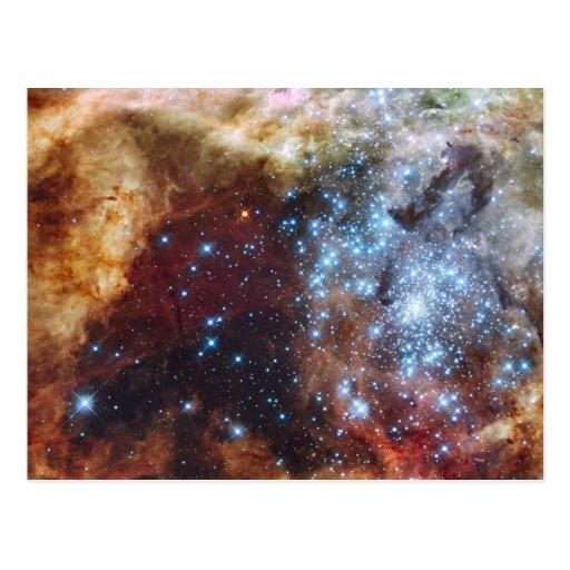 Brilliant Rainbow Nebula 30 Doradus Post Card