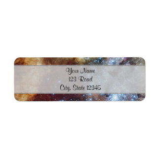 Brilliant Rainbow Nebula 30 Doradus Return Address Label