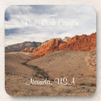 Brilliant Red Rocks Nevada Souvenir Coaster