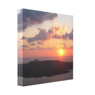 Brilliant Santorini Sunset Canvas Print