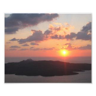 Brilliant Santorini Sunset Photo Print