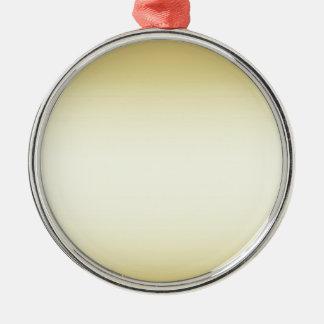 Brilliant shiny gold metal ornament