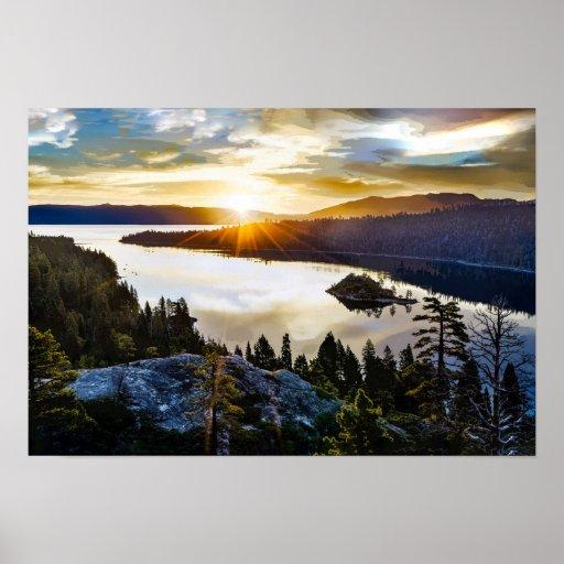 Brilliant Sky at Emerald Bay Lake Tahoe California Poster