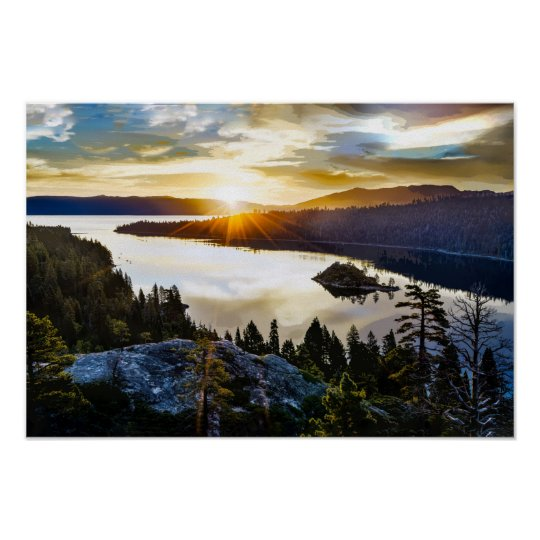 Brilliant Sky at Emerald Bay Lake Tahoe California Poster