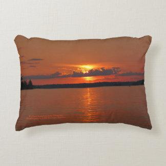 Brilliant Sunset On Lake Vermilion h-throw Decorative Cushion